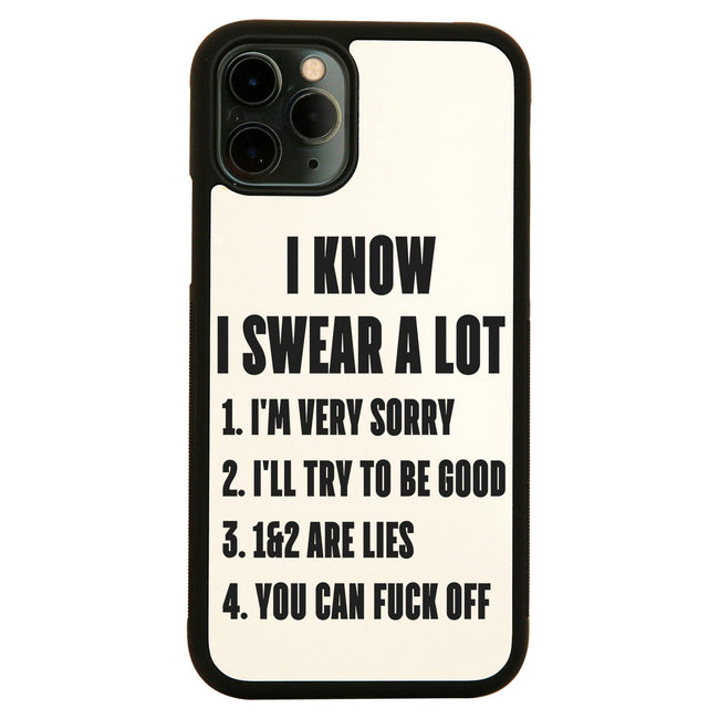 I know I swear a lot  funny rude offensive iPhone case cover 11 11Pro Max XS XR X - Graphic Gear