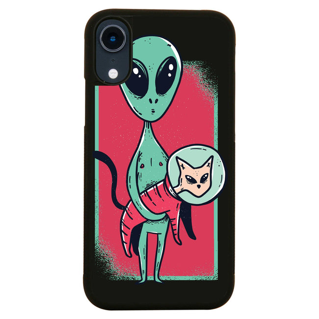 Space alien cute cat funny iPhone case cover 11 11Pro Max XS XR X - Graphic Gear