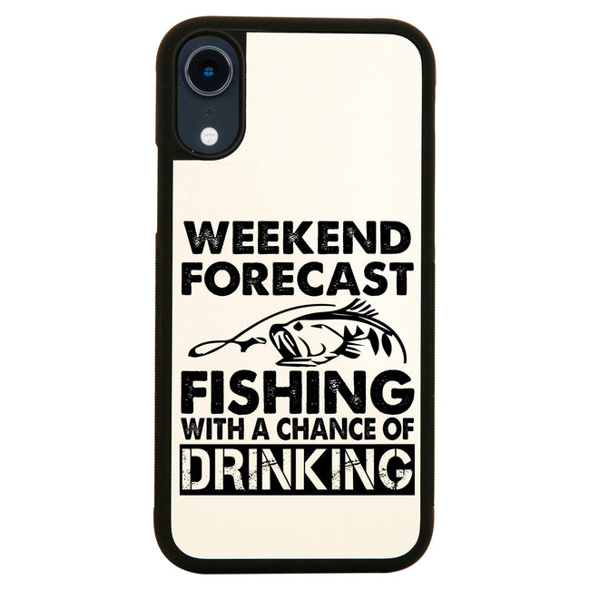 Weekend forecast fishing funny iPhone case cover 11 11Pro Max XS XR X - Graphic Gear