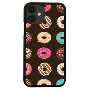 Flat illustrated donuts pattern design funny case cover for iPhone 11 11pro max xs xr x - Graphic Gear