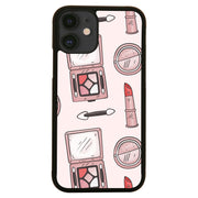Hand drawn makeup pattern design funny iPhone case cover 11 11Pro Max XS XR X - Graphic Gear