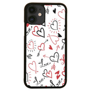 Hearts pattern design illustration iPhone case cover 11 11Pro Max XS XR X - Graphic Gear