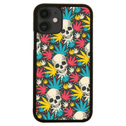 Skull cannabis pattern design funny illustration iPhone case cover 11 11Pro Max XS XR X - Graphic Gear