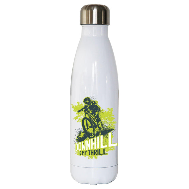 Downhill biking mountain bike water bottle stainless steel reusable - Graphic Gear