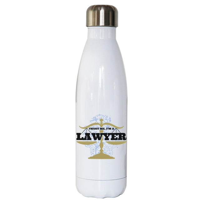 Lawyer funny water bottle stainless steel reusable - Graphic Gear