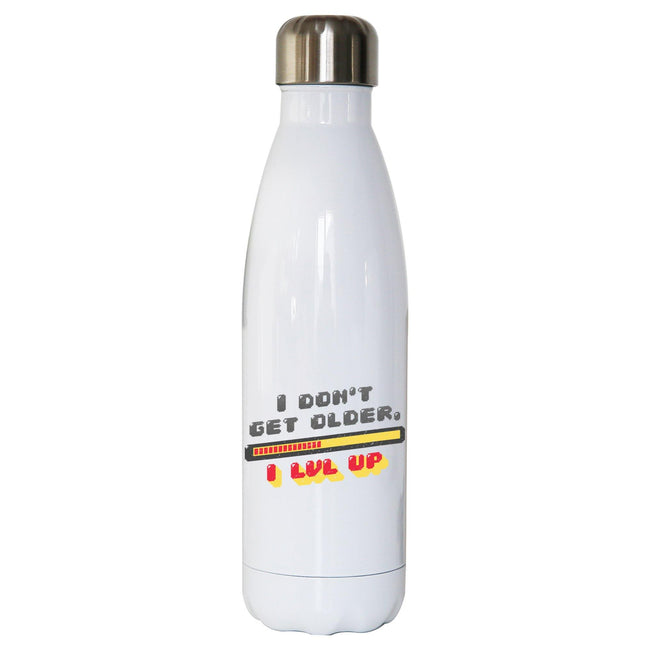 Level up funny water bottle stainless steel reusable - Graphic Gear
