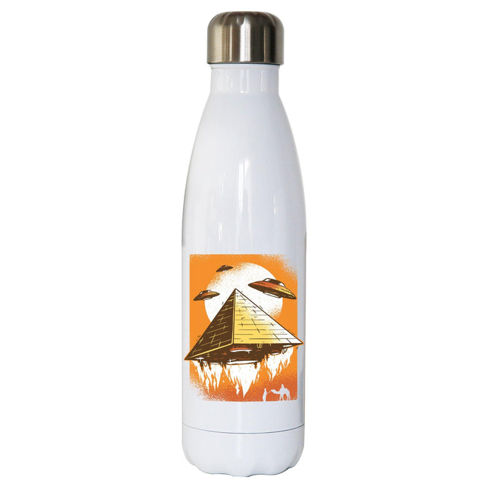 Pyramid ufo funny water bottle stainless steel reusable