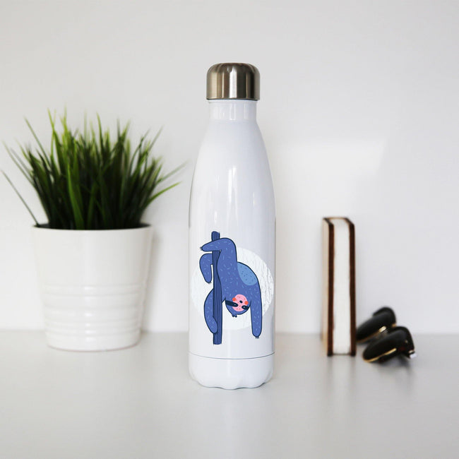Pole dance sloth funny water bottle stainless steel reusable - Graphic Gear