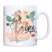 Open your eyes illustration design mug coffee tea cup - Graphic Gear