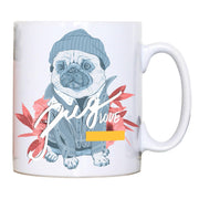 Pug love funny design mug coffee tea cup - Graphic Gear