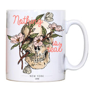 Skull flower abstract illustration mug coffee tea cup - Graphic Gear