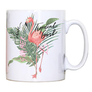 Tropical girl flamingo design mug coffee tea cup - Graphic Gear