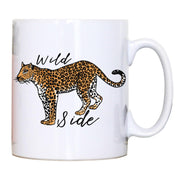 Wildside leopard print illustration graphic design mug coffee tea cup - Graphic Gear
