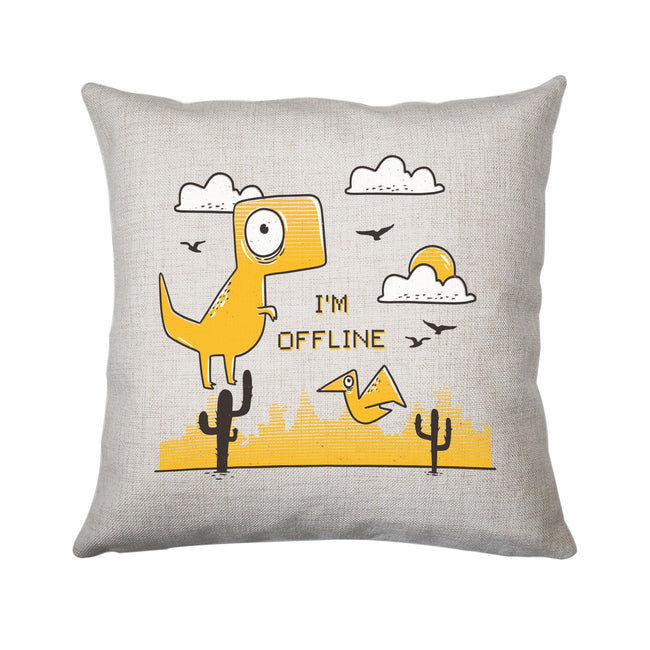Funny  jumping dino I am offline cushion cover pillowcase linen home decor