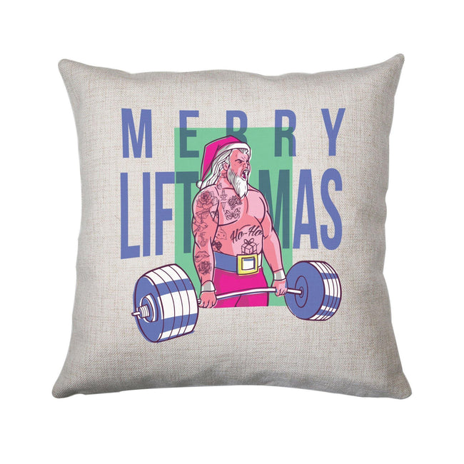 Merry liftmas tattoo funny Christmas cushion cover pillowcase linen home decor