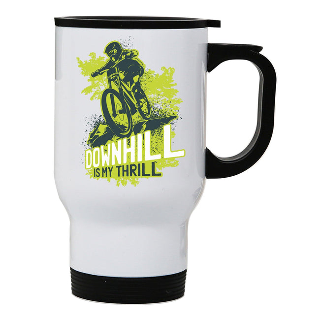 Downhill biking mountain bike stainless steel travel mug eco cup - Graphic Gear