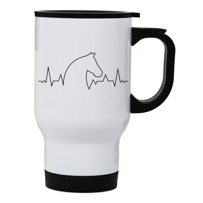 Horse heartbeat stainless steel travel mug eco cup - Graphic Gear
