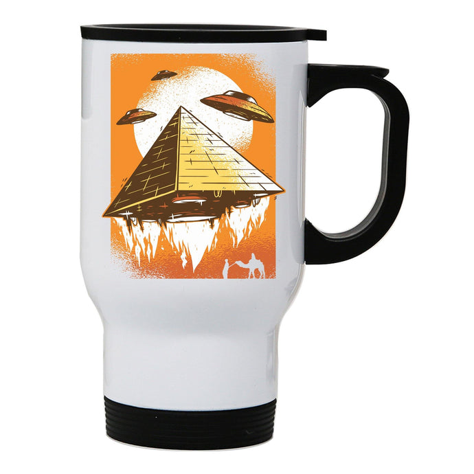 Pyramid ufo funny stainless steel travel mug eco cup