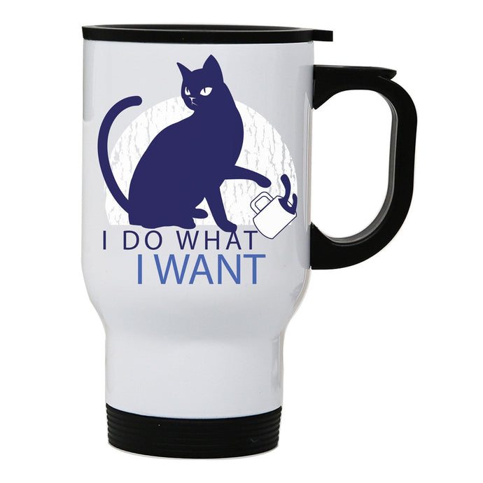 Rebel cat funny stainless steel travel mug eco cup