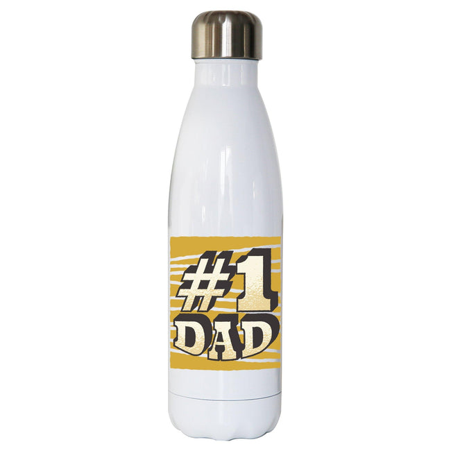 Number 1 dad funny fathers day water bottle stainless steel reusable