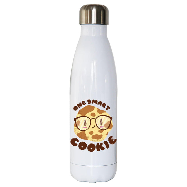 Smart cookie funny water bottle stainless steel reusable