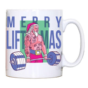Merry liftmas tattoo funny Christmas mug coffee tea cup