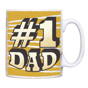 Number 1 dad funny fathers day mug coffee tea cup