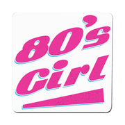 80's girl retro Coaster drink mat - Graphic Gear