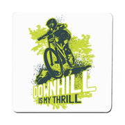 Downhill biking mountain bike coaster drink mat - Graphic Gear