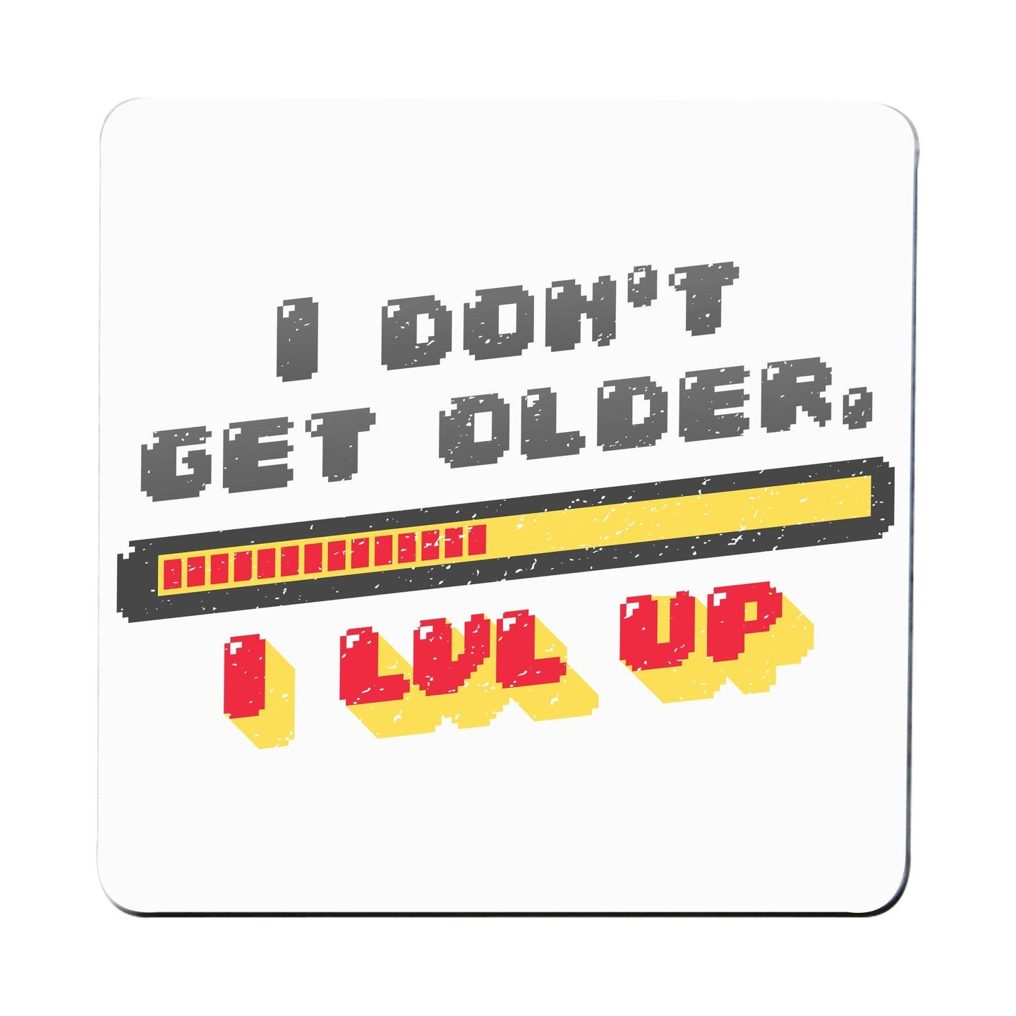 Level up funny coaster drink mat