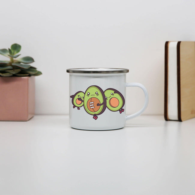 Funny avocado football mug coffee tea cup