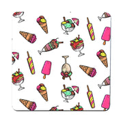 Cartoon ice cream pattern funny illustration design coaster drink mat - Graphic Gear