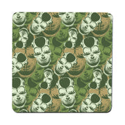 Camouflage skull pattern design coaster drink mat - Graphic Gear