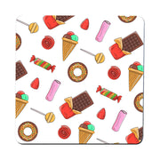 Candies illustration pattern funny illustration coaster drink mat - Graphic Gear