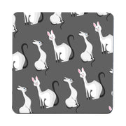 Classy cats pattern funny illustration design coaster drink mat - Graphic Gear