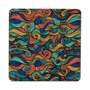 Colorful ornamental illustration design coaster drink mat - Graphic Gear