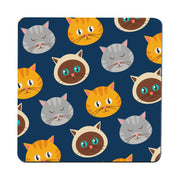 Cute cats pattern funny illustration design coaster drink mat - Graphic Gear