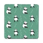 Cute panda pattern design funny illustration coaster drink mat - Graphic Gear