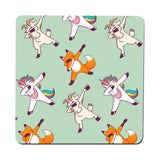 Dabbing animals pattern design funny illustration coaster drink mat - Graphic Gear
