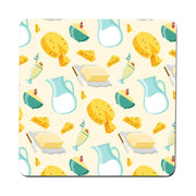 Dairy products pattern illustration design coaster drink mat - Graphic Gear