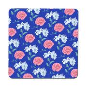 Daisy and rose pattern illustration design coaster drink mat - Graphic Gear
