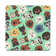 Dog heads pattern illustration design coaster drink mat - Graphic Gear