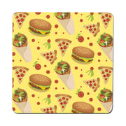 Fast food pattern design funny illustration coaster drink mat - Graphic Gear