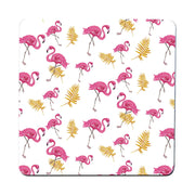 Flamingo nature pattern design funny illustration coaster drink mat - Graphic Gear
