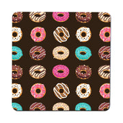 Flat illustrated donuts pattern design funny coaster drink mat - Graphic Gear