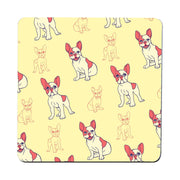 French bulldog cartoon pattern design funny coaster drink mat - Graphic Gear