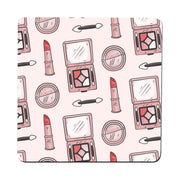 Hand drawn makeup pattern design funny coaster drink mat - Graphic Gear