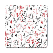 Hearts pattern design illustration coaster drink mat - Graphic Gear