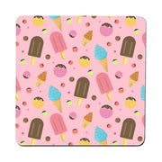 Ice cream pattern design funny coaster drink mat - Graphic Gear