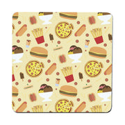 Junk food pattern design funny coaster drink mat - Graphic Gear
